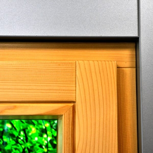 thumb Detaileckansicht eines Fensters ohne sichtbares Scherenecklager