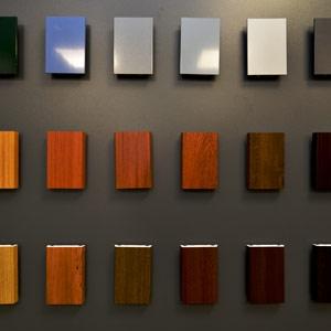 thumb Ausschnitt aus der Farbmusterwand für Fenster