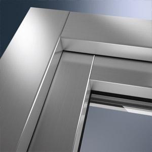thumb Kunststofffenster mit Aluminiumdeckschale (Eckansicht)