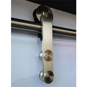 thumb Obere Aufhängung einer Ganzglasschiebetüranlage – glänzend
