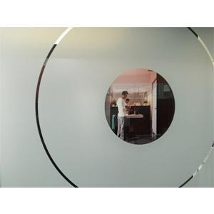 thumb Durchblick durch Ganzglastürblatt mit Motiven