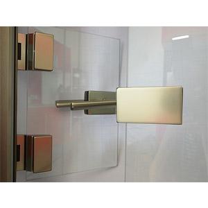 thumb Griff und Scharnier für eine Ganzglasdrehtüre in  mattierter Ausführung