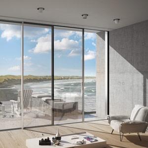thumb Wohnzimmer mit Glasfront